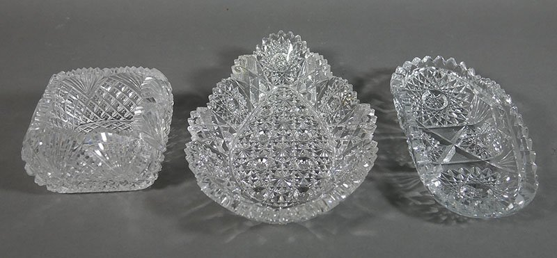 3 Pieces ABP Cut Glass - 2