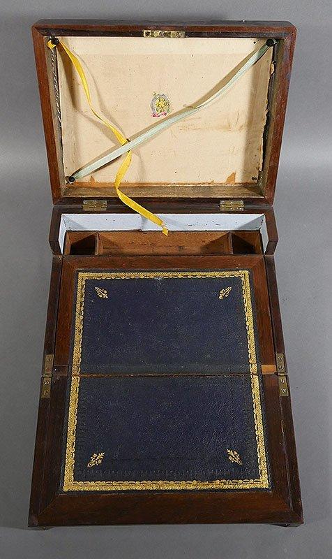 Antique Mahogany Folding Writing Lap Desk