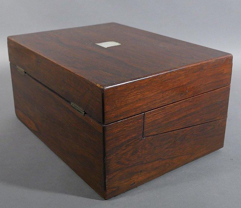 Antique Mahogany Folding Writing Lap Desk - 7