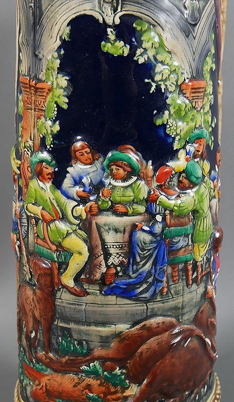 "Gerz Signed German Large Beer Stein, 18"" high - 2"