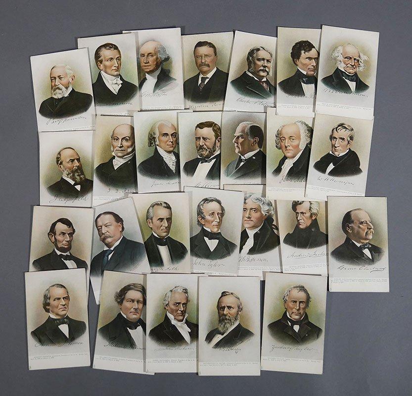 28 Presidential Portrait Postcards