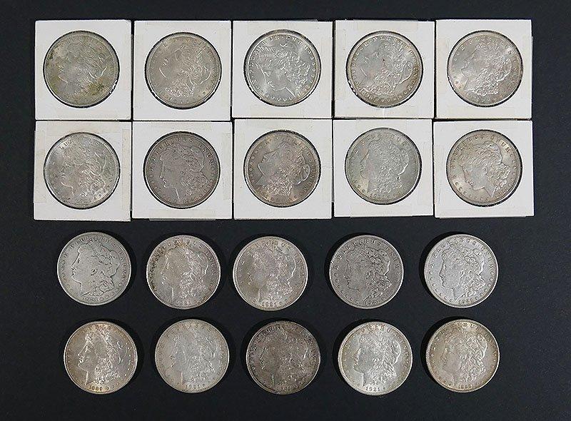 Collection of 20 MORGAN SILVER DOLLARS