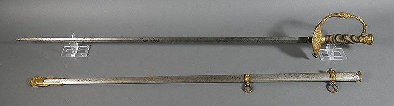 Antique Ceremonial Dress Sword w Scabbard