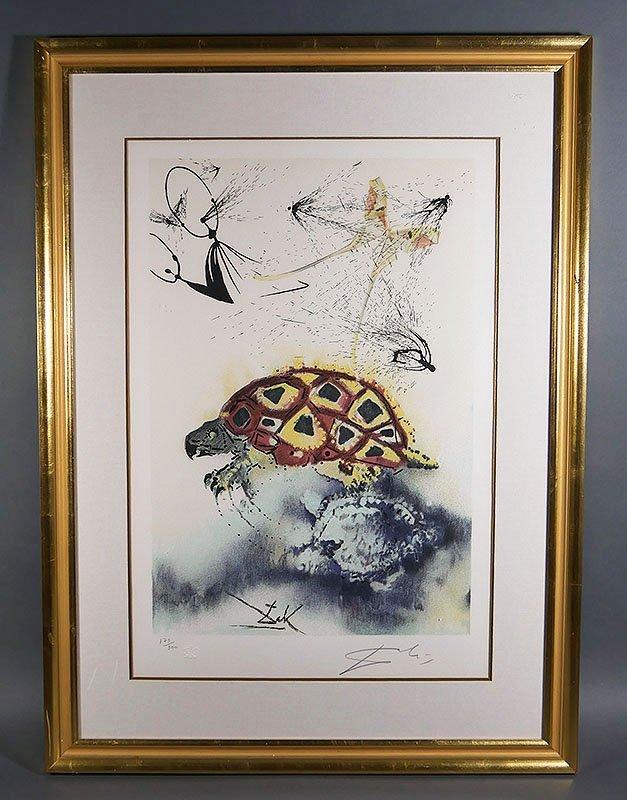 SALVADOR DALI The Mock Turtle's Story Signed Print