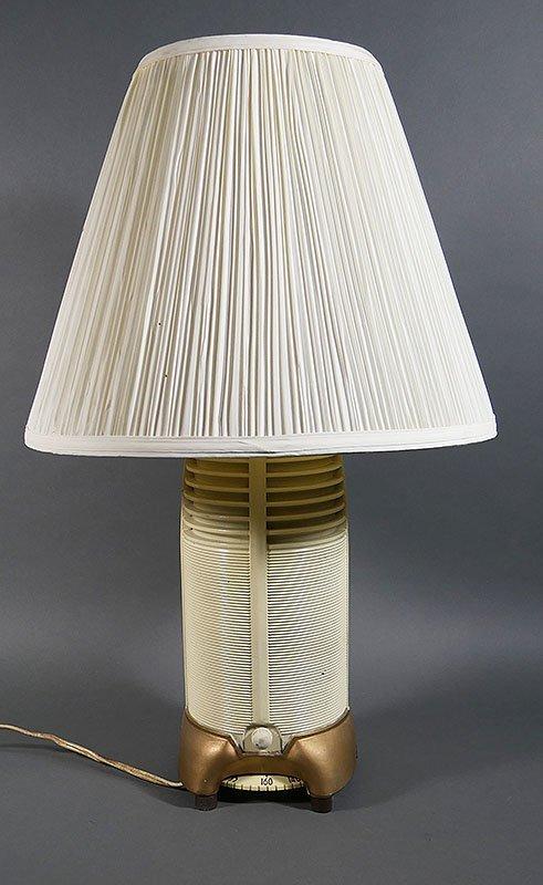 1940s MITCHELL LUMITONE Radio Rocket Lamp