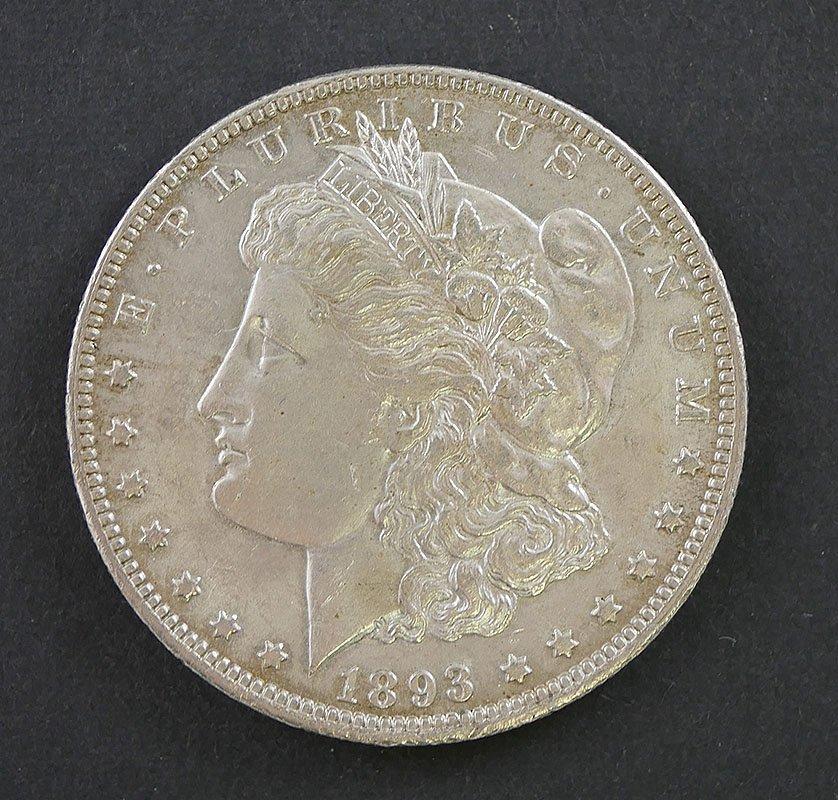 1893-O MORGAN Silver Dollar BU uncirculated
