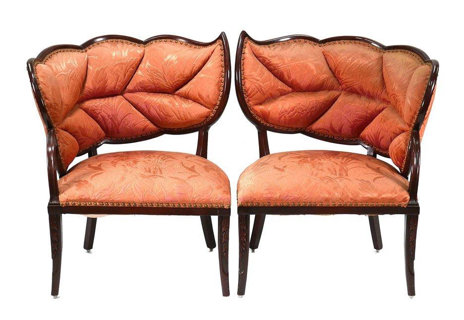 Pair FRENCH ART DECO Leaf Chairs Maison Jansen