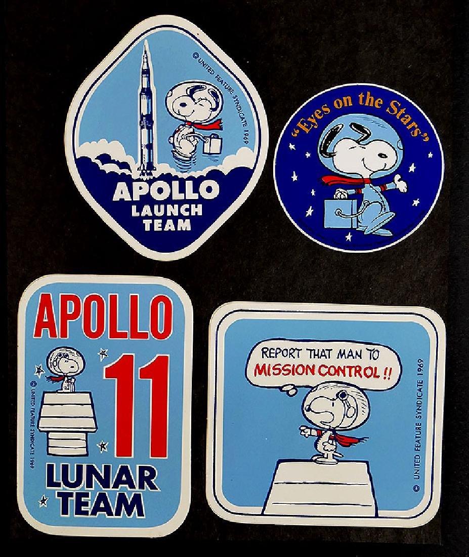 Vintage Snoopy Project Apollo Recovery Team Sticker NASA 1969 rare