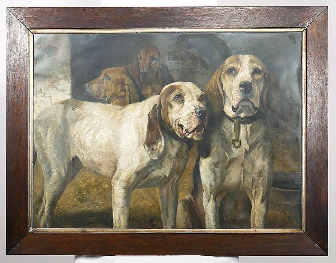HENRY RANKIN POORE Winchester Guns Bear Dogs Litho