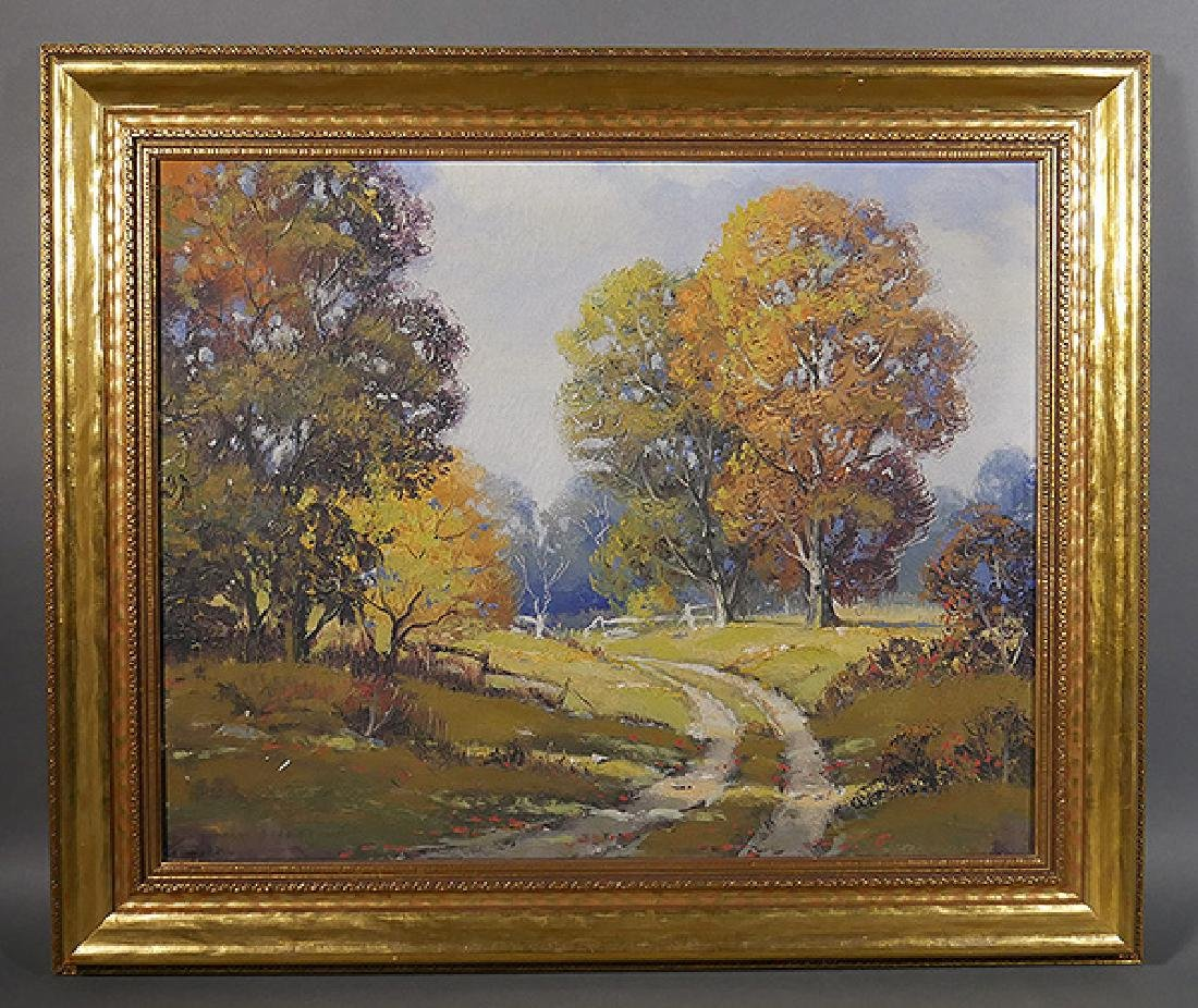 Ernest Fredericks Oil on Canvas Listed Painting
