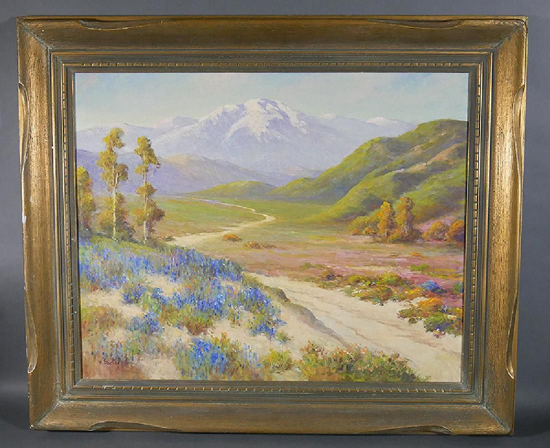 Herbert Sartelle California O/C Landscape Painting