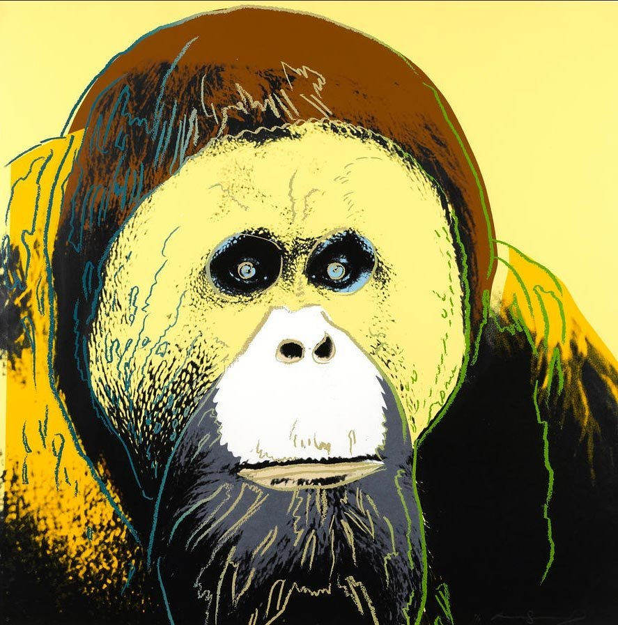 Orangutan, from Endangered Species by Andy Warhol, 1983