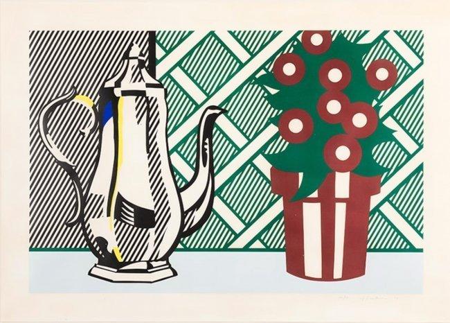 Roy Lichtenstein, Still Life w/Pitcher & Flowers, 1974