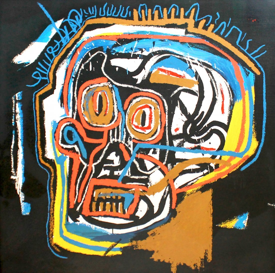 Untitled Head by Jean-Michel Basquiat: Screenprint 2001