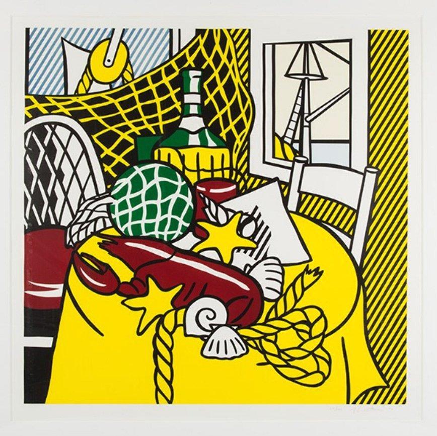Still Life with Lobster, Roy Lichtenstein: 1974