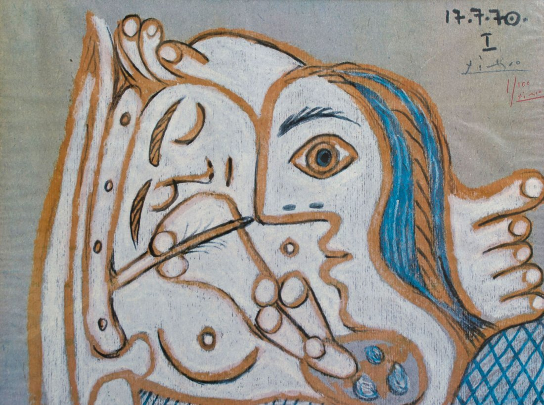 Nu au Faubourg by Pablo Picasso: Signed poster 1970