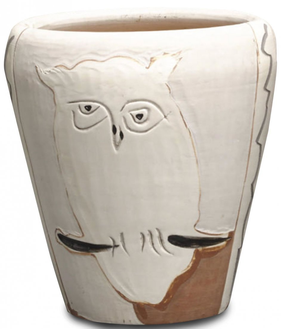 Face and Owl Vase, by Pablo Picasso: Made 1958