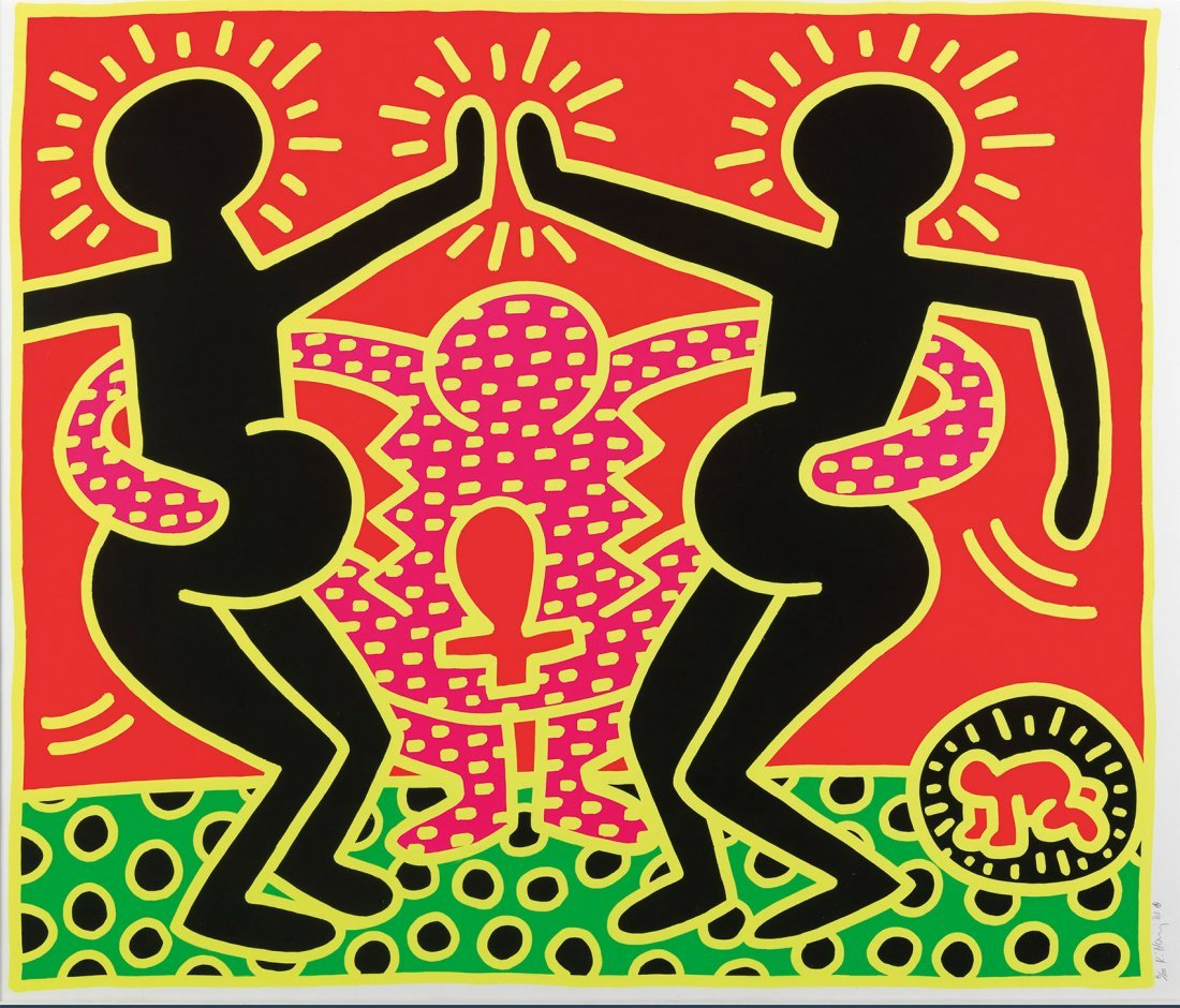 Fertility Suite, no.5,  by Keith Haring: Serigraph 1983
