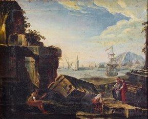 5: Italian School (19th Century) Figures and Ancient Ru