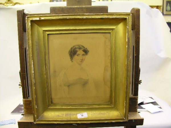 16: Slater (19th Century) Portrait of a young lady and