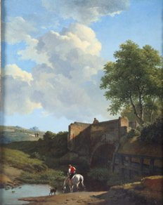 17: E. J. Verboeckhoeven Horse and Rider Watering, Bene