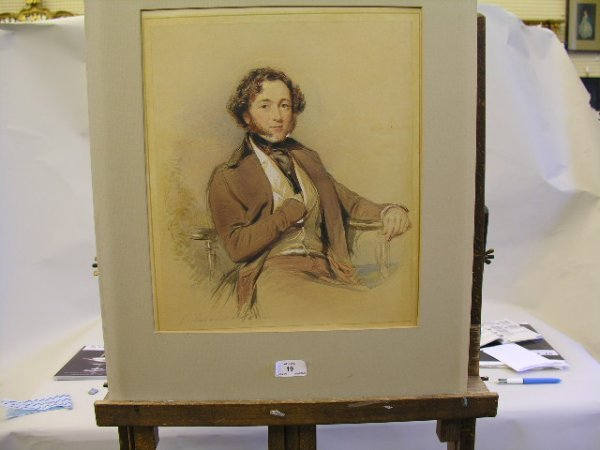 19: George Richmond (1809-1896) Portrait of a young gen