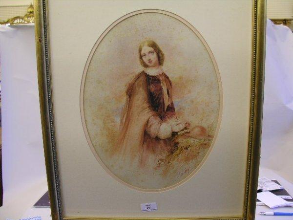 20: Edward Hayes RHA (1797-1864) Portrait of a young la