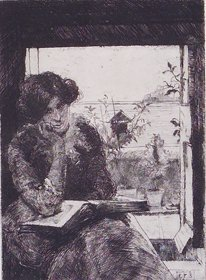 4001: Estella Solomons HRHA (1882-1968) Self Portrait (