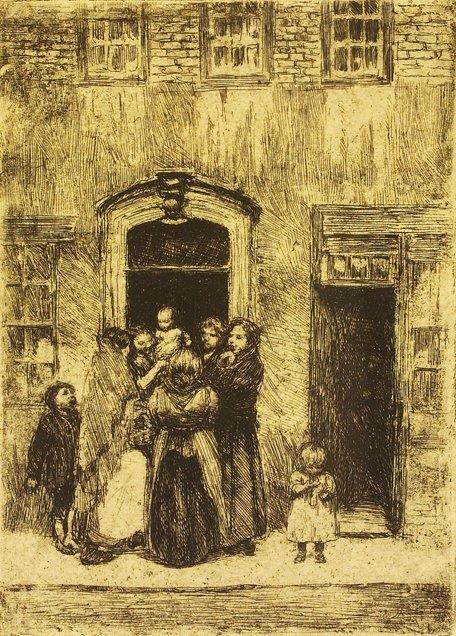 4004: Estella Solomons HRHA (1882-1968) Woman in a Door