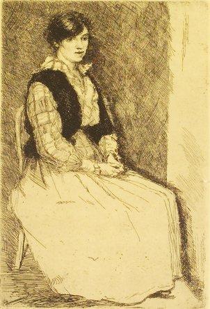 4006: Estella Solomons HRHA (1882-1968) Seated Woman Et