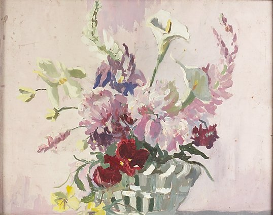 4009: Eileen Murray, (1885-1962) Summer Blooms in a Vas