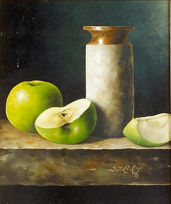 4011: D.F Le Roy (David French) Still Life with Apples