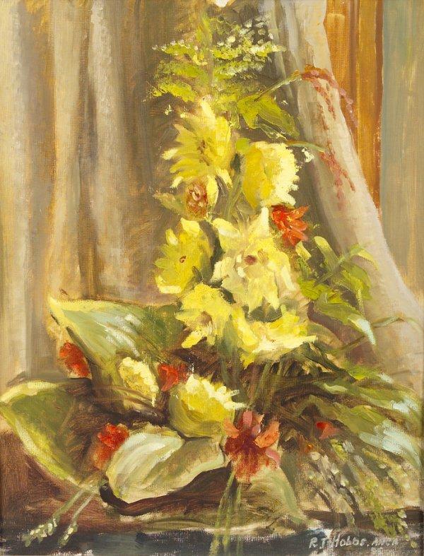 4012: Reginald J. Hobbs ANCA Still life with yellow flo