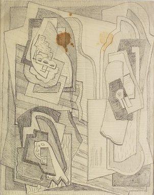 4172: Mainie Jellett, (1897-1944) Three Elements Pencil