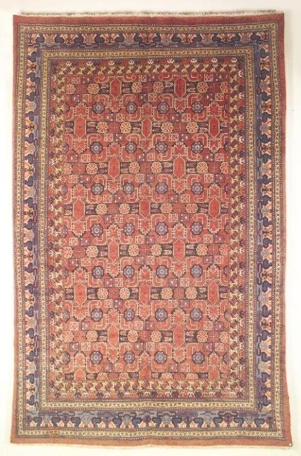 5013: Semi-antique Samarkand carpet, Uzbecistan, Ca 190