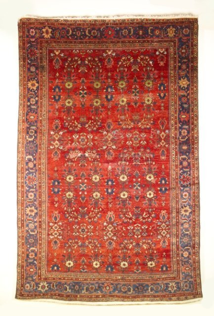 5014: Antique Sultanabad Mahal carpet, Arak district, W