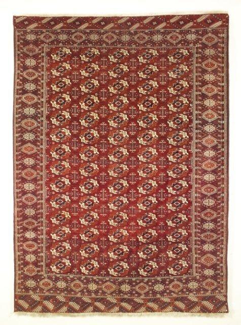 5016: Antique Tekke Bokhara carpet, Merv region, Turkme