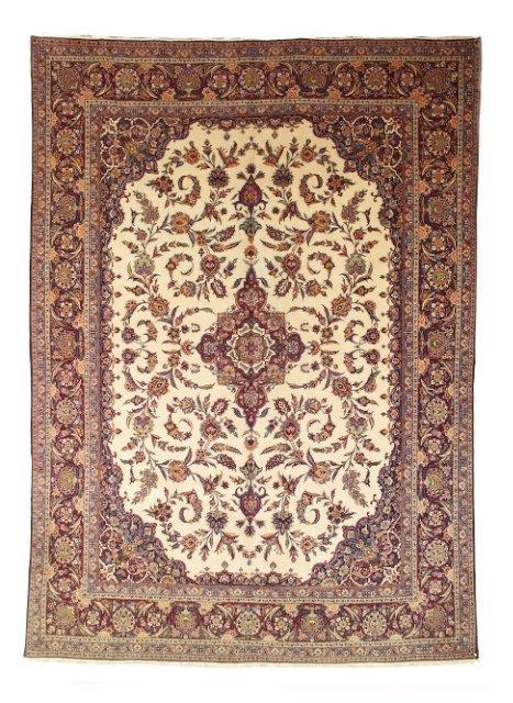 5017: Semi-antique Kashan carpet, town of Kashan, Centr