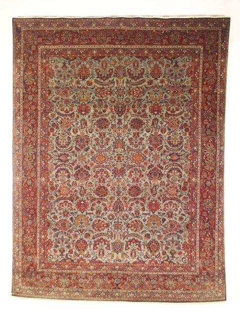 5018: Semi-antique Kurk Kashan carpet, town of Kashan,