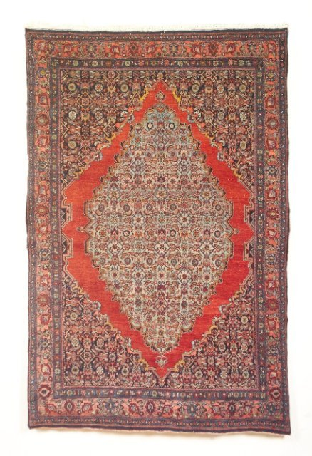 5023: Antique Bidjar rug, Kurdish, Bidjar town, West Pe