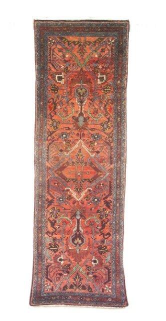 5028: Semi-antique Mehraban runner, Hamadan province, W