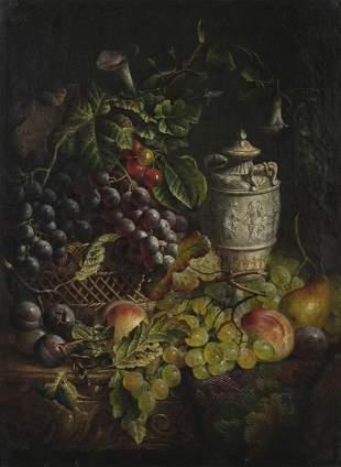 CHARLES STUART FSA (1854-1893) A Still Life with Fruits