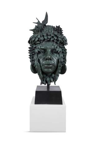 Rory Breslin (b.1963) The May Mask Bronze, 75cm x