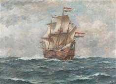 BERNARD F. GRIBBLE (BRITISH 1872 - 1962) Dutch Tallship