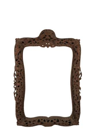 AN INTRICATELY CARVED 'BEASTS AND BIRDS' WOODEN FRAME