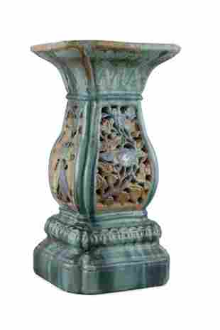 A PROBABLY CAI MAY STONEWARE JARDINIERE STAND,