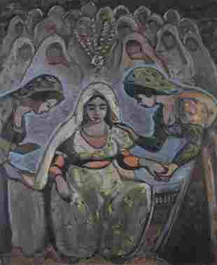 AMMAR FARHAT (1911-1987) The Tunisian bride (la