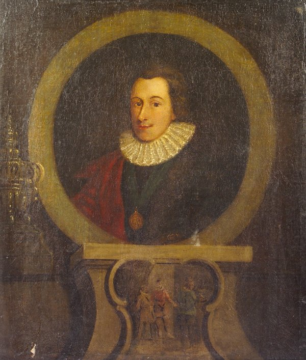 9: Irish School 18th century Portrait of Sir Philip Sid