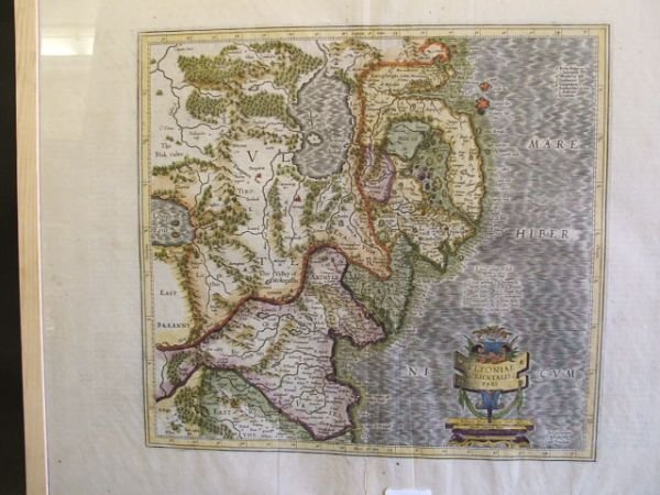 11: 17th Century School Map of East Ulster and Louth Ha