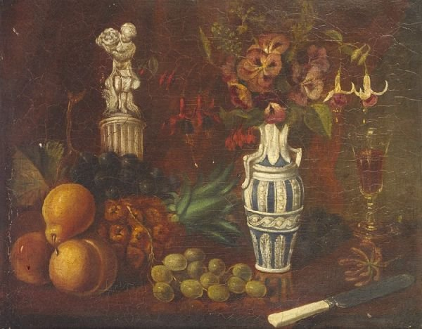 17: English School 19th Century Still life with fruit,